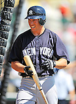8 March 2011: New York Yankees' infielder Doug Bernier awaits his turn in the batting cage prior to a Spring Training game against the Atlanta Braves at Champion Park in Orlando, Florida. The Yankees edged out the Braves 5-4 in Grapefruit League action. Mandatory Credit: Ed Wolfstein Photo
