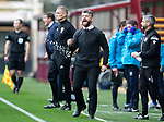 Motherwell v St Johnstone&hellip;20.10.18&hellip;   Fir Park    SPFL<br />Motherwell boss Stephen Robinson goes nuts<br />Picture by Graeme Hart. <br />Copyright Perthshire Picture Agency<br />Tel: 01738 623350  Mobile: 07990 594431