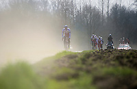 It promises to be very dusty on race-day, as Team Katusha is finding out<br /> <br /> <br /> 2015 Paris-Roubaix recon