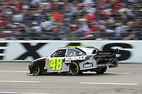 Nov. 8, 2009; Fort Worth, TX, USA; NASCAR Sprint Cup Series driver Jimmie Johnson during the Dickies 500 at the Texas Motor Speedway. Mandatory Credit: Mark J. Rebilas-
