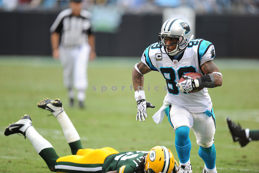 STEVE SMITH, of the Carolina Panthers, in action during the Panthers game against the Green Bay Packers on September 18, 2011 at Bank of America Stadium in Charlotte, NC. The Packers beat the Panthers 30-23.