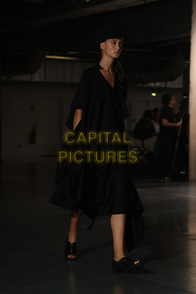 Yohji Yamamoto<br /> backstage at Spring/Summer 2018 Ready-to-Wear Fashion Show at Paris Fashion Week in Paris, France in September 2017.<br /> CAP/GOL<br /> &copy;GOL/Capital Pictures