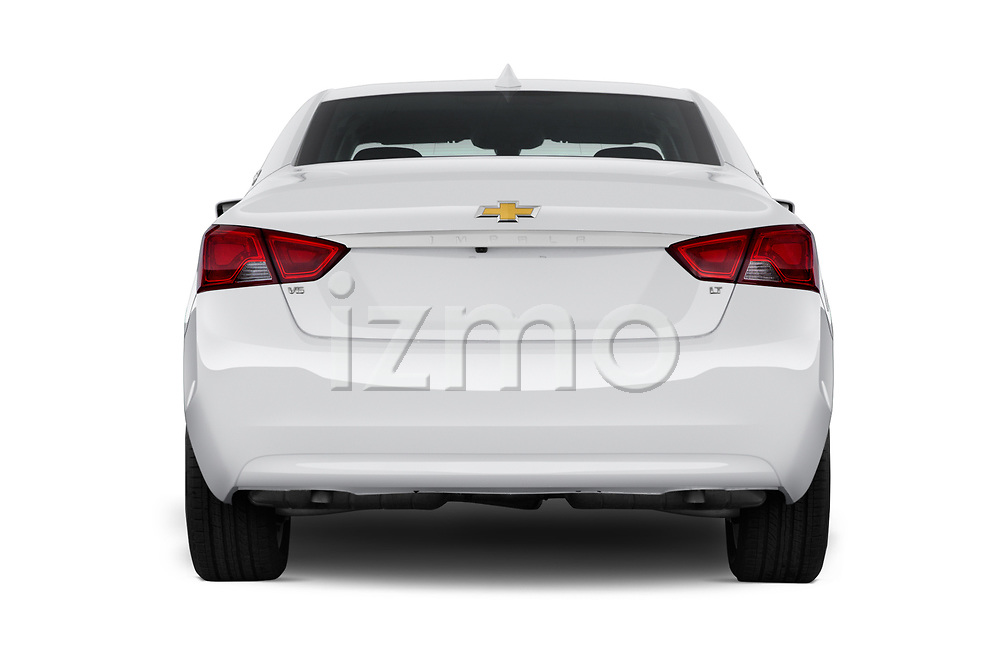 Straight rear view of 2019 Chevrolet Impala 1LT Door Sedan Rear View  stock images