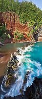 Red Sand Beach and Kaihalulu Bay in Hana, Maui.