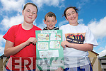 Sixth class pupils of  Boheshill National School in Glencar are celebrating this week after coming  top in a national Archaelogical competition. .L-R Ciara O'Connor, Michael O'Shea and Eibhlis O'Connor..