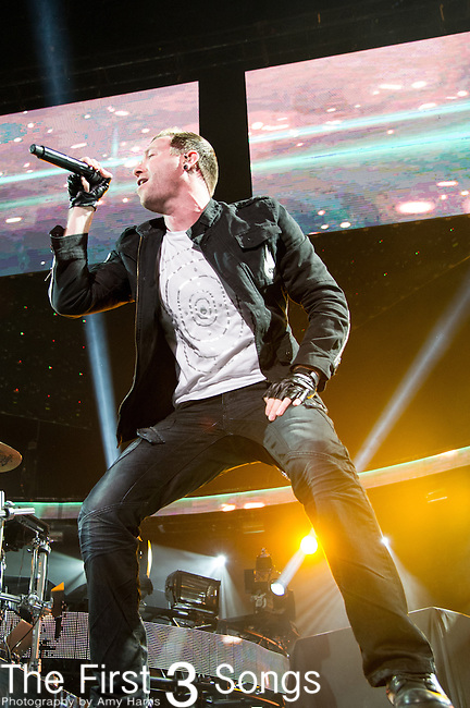 Trevor McNevan of Thousand Foot Krutch performs during the 2014 Winter Jam Tour at the Wolstein Center in Cleveland, Ohio.