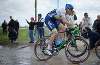 Mathew Hayman (AUS/Orica-GreenEDGE) at the end of sector 11: Auchy-lez-Orchies to Bers&eacute;e (2.7km)<br /> <br /> 114th Paris-Roubaix 2016