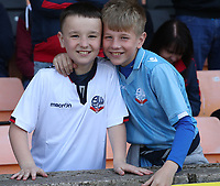 Bolton Wanderers fans wait for the kick-off<br /> <br /> Photographer Stephen White/CameraSport<br /> <br /> The EFL Sky Bet League One - Port Vale v Bolton Wanderers  - Saturday 22nd April 2017 - Vale Park - Burslem<br /> <br /> World Copyright &copy; 2017 CameraSport. All rights reserved. 43 Linden Ave. Countesthorpe. Leicester. England. LE8 5PG - Tel: +44 (0) 116 277 4147 - admin@camerasport.com - www.camerasport.com
