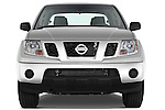 Straight front view of a 2009 Nissan Frontier Crew Cab SE