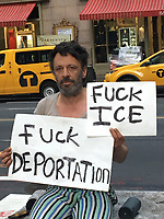 JUL 15 Man Protests ICE Illegal Immigrant Deportation in NYC