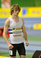 Photo: Paul Greenwood/Richard Lane Photography. Aviva World Trials & UK Championships. 14/02/2010. .Scott Hughson in the Mens 400m.