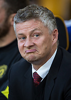 Man Utd manager Ole Gunnar Solskjær during the Premier League match between Wolverhampton Wanderers and Manchester United at Molineux, Wolverhampton, England on 19 August 2019. Photo by Andy Rowland.