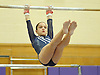 Mayah Siegel of Plainview JFK performs on the uneven bars during a Nassau County varsity gymnastics meet against Massapequa at McKenna Elementary School on Monday, Feb. 1, 2016.
