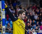 Domenico EBNER (#1 SG Bietigheim) \ beim Spiel in der Handball Bundesliga, SG BBM Bietigheim - SC DHfK Leipzig.<br /> <br /> Foto &copy; PIX-Sportfotos *** Foto ist honorarpflichtig! *** Auf Anfrage in hoeherer Qualitaet/Aufloesung. Belegexemplar erbeten. Veroeffentlichung ausschliesslich fuer journalistisch-publizistische Zwecke. For editorial use only.
