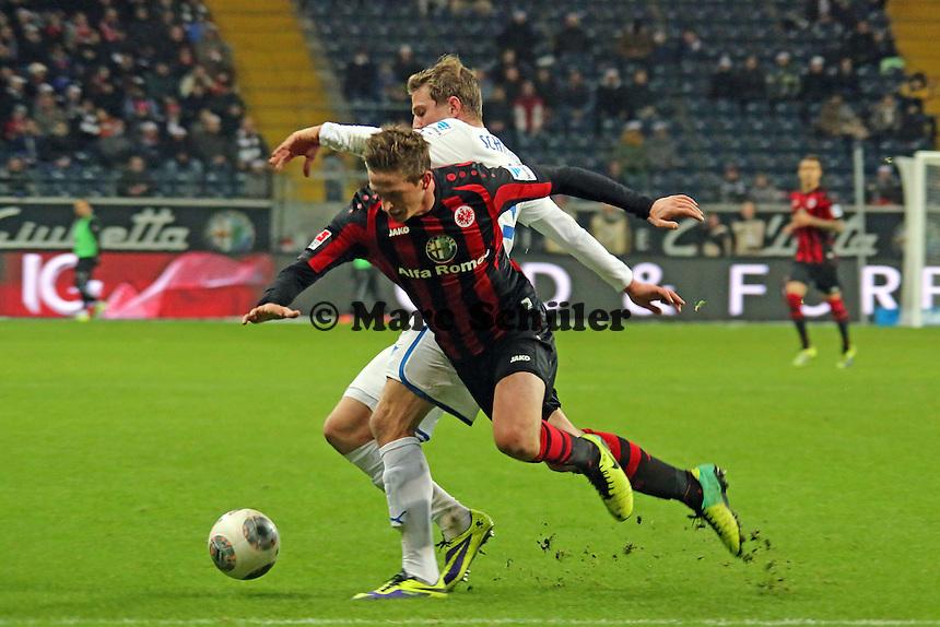 Sven Schipplock (Hoffneheim) gegen Bastian Oczipka (Eintracht) - Eintracht Frankfurt vs. TSG 1899 Hoffenheim, Commerzbank Arena