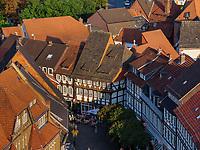 Altstadt mit Marktplatz, Blick von Marktkirche St. Jacobi auf , Einbeck, Niedersachsen, Deutschland, Europa
