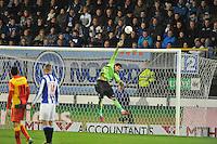 VOETBAL: ABE LENSTRA STADION: HEERENVEEN: 30-11-2013, SC Heerenveen - Go Ahead Eagles, uitslag 3-1, redding Kristoffer Nordfeldt (#1 | SCH), ©foto Martin de Jong