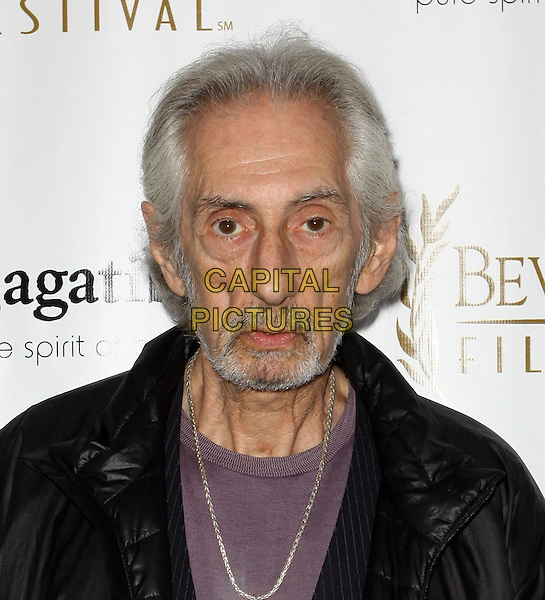 LARRY HANKIN .10th Annual International Beverly Hills Film Festival - Opening Night held At The Clarity Theatre,  Beverly Hills, California, USA, .14th April 2010..portrait headshot  Black jacket purple t-shirt beard gaunt facial hair silver necklace .CAP/ADM/KB.©Kevan Brooks/AdMedia/Capital Pictures.