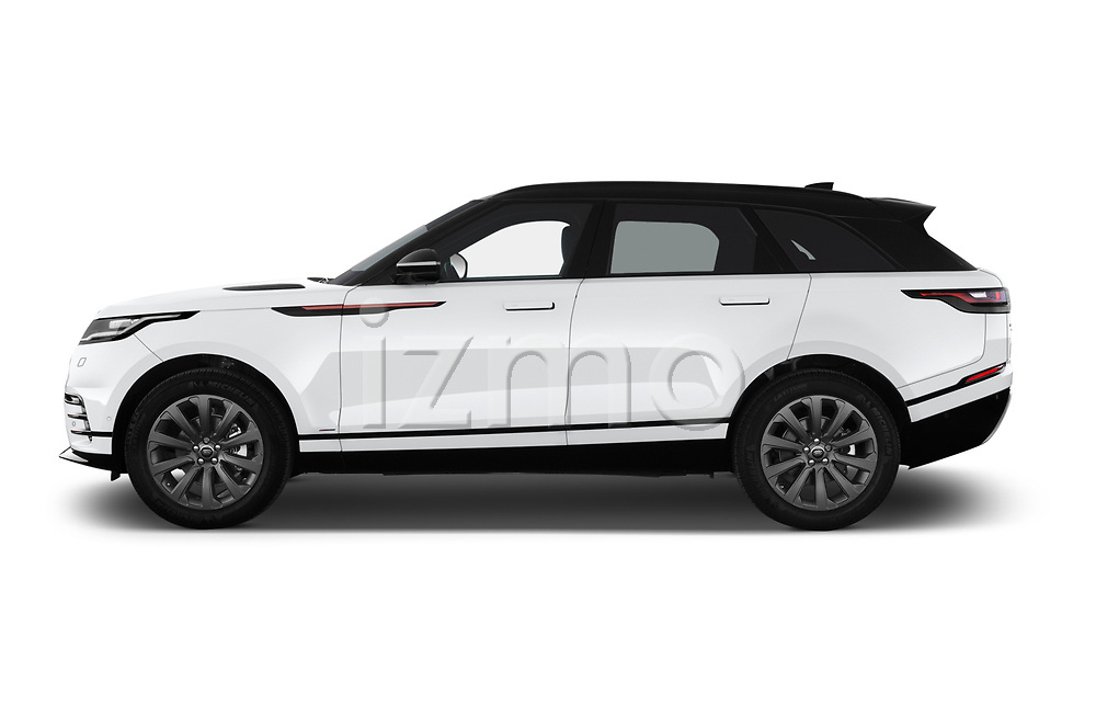 Car Driver side profile view of a 2018 Land Rover Range-Rover-Velar Dynamic-SE 5 Door SUV Side View