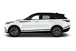 Car Driver side profile view of a 2019 Land Rover Range-Rover-Velar Dynamic-SE 5 Door SUV Side View
