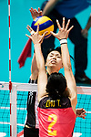 Wing spiker Risa Shinnabe of Japan spikes the ball during the FIVB Volleyball World Grand Prix match between China vs Japan on July 21, 2017 in Hong Kong, China. Photo by Marcio Rodrigo Machado / Power Sport Images
