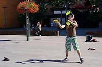 Giocoliere.Juggler.<br /> Helsinki, Finlandia.