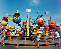 Helicopter Ride On The Wildwood, NJ Boardwalk. 1960's