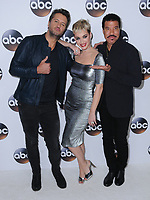 08 January 2018 - Pasadena, California - Luke Bryan, Katy Perry, Lionel Richie. 2018 Disney ABC Winter Press Tour held at The Langham Huntington in Pasadena. <br /> CAP/ADM/BT<br /> &copy;BT/ADM/Capital Pictures
