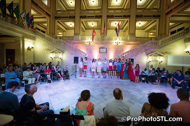 PRONTO 2014 International Fashion Show at St. Louis City Hall on April 12, 2014.