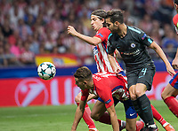 Chelsea´s midfielder Cesc Fabregas during the UEFA Champions League group C match between Atletico Madrid and Chelsea played at the Wanda Metropolitano Stadium in Madrid, on September 27th 2017.