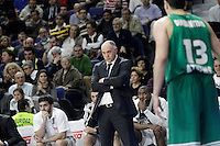 Real Madrid's coach Pablo Laso during Euroleague match.January 22,2015. (ALTERPHOTOS/Acero) /NortePhoto<br />