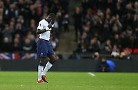 Tottenham Hotspur's Moussa Sissoko leaves the field with an injury <br /> <br /> Photographer Rob Newell/CameraSport<br /> <br /> The Premier League - Tottenham Hotspur v Manchester United - Sunday 13th January 2019 - Wembley Stadium - London<br /> <br /> World Copyright &copy; 2019 CameraSport. All rights reserved. 43 Linden Ave. Countesthorpe. Leicester. England. LE8 5PG - Tel: +44 (0) 116 277 4147 - admin@camerasport.com - www.camerasport.com