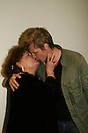 Kathleen Widdoes and Paolo Seganti reenact the kiss as they played Jason and Medea - one of the plays at the ATWT reunion to benefit Epic Theatre Ensemble after-school Bridge Projects - As The Epic Turns - on April 17 & 18, 2009 at The Peter Jay Sharp Theatre, NYC. (Photo by Sue Coflin/Max Photos)