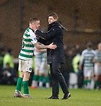 08.11.2019 League Cup Final, Rangers v Celtic: Steven Gerrard and Jonny Hayes