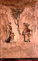 Roman Art:  Fresco--Venere punisce Amore (da Pompeii).  National Museum, Naples.