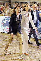 Princess Caroline & daughter Charlotte Casiraghi during the 2013 Monte Carlo jumping