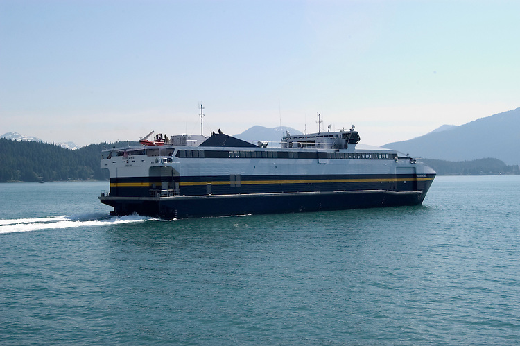 Alaska, Juneau: Newest of Alaska's public ferries, the Fairweather, and the Taku..Photo #: alaska10064 .Photo copyright Lee Foster, 510/549-2202, lee@fostertravel.com, www.fostertravel.com.