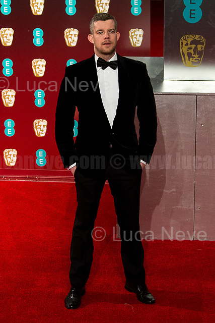 Russell Tovey.<br /> <br /> London, 12/02/2017. Red Carpet of the 2017 EE BAFTA (British Academy of Film and Television Arts) Awards Ceremony, held at the Royal Albert Hall in London.<br /> <br /> For more information please click here: http://www.bafta.org/