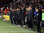 Minutes silence for the players and officials of Chapecoense football team during the English League One match at Bramall Lane Stadium, Sheffield. Picture date: November 29th, 2016. Pic Simon Bellis/Sportimage