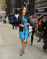 NEW YORK, NY - APRIL 1,2014: Singer Michelle Williams seen near the  Ed Sullivan Theater, New York City ,April 1, 2014 in New York City.  HP/Starlitepics.