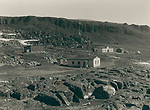 Danish arctic station Disko, Greenland in the late 19th century, circa 1889,