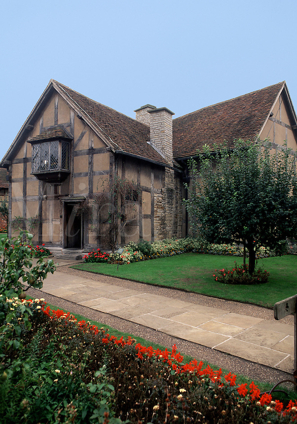 The exterior of the home of William Shakespeare. Stratford-upon-Avon, England.