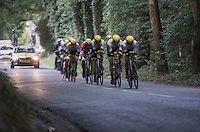 Team LottoNL-Jumbo during the TTT<br /> <br /> 12th Eneco Tour 2016 (UCI World Tour)<br /> stage 5 (TTT) Sittard-Sittard (20.9km) / The Netherlands