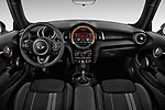 Stock photo of straight dashboard view of 2019 MINI Cooper John-Cooper-Works-Hardtop Door Hatchback Dashboard