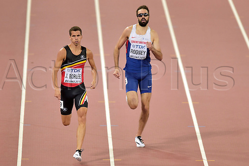 24.08.2015. Beijing, China. 15th International Association of Athletics Federations (IAAF) Athletics World Championships in Beijing, China.  Jonathan Borlee in action during the semi final of the 400m men race