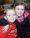 Maeve and Cormac Duggan at Storytime in Drogheda Library as part of World Book Day....Photo NEWSFILE/Jenny Matthews.