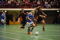 VOETBAL: FRANEKER: 10-01-2015, Sporthal De Trije Franeker - Open FK zaalvoetbal, VIOD Driezum wint bij de dames, ©foto Martin de Jong