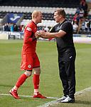 04.08.18 St Mirren v Dundee: Craig Samson and Alan Stubbs