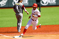 Yordan Manduley de los Alazanes de Granma Cuba  corre rumbo a home para anotar carrera en el primer innig, durante el juego de b&eacute;isbol de la Serie del Caribe contra Caribes de Anzo&aacute;tegui de Venezuela en Guadalajara, M&eacute;xico,  on Friday, February 2, 2018. (AP Photo / Luis Gutierrez)<br /> <br /> Yordan Manduley of the Alazanes of Granma Cuba is heading home to score a career in the first innig, during the Caribbean Series baseball game against Caribes de Anzo&aacute;tegui of Venezuela in Guadalajara, Mexico, on Friday, February 2, 2018. ( AP Photo / Luis Gutierrez)
