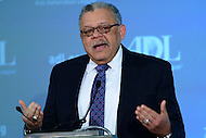 Washington, DC - May 16, 2016: Former Philadelphia Police Commissioner Charles H. Ramsey, speaks before an audience at the Anti-Defamation League's (ADL) National Leadership Summit at the Mayflower Hotel in the District of Columbia, May 16, 2016, after receiving the ADL's William and Naomi Gorowitz Institute Service Award.  (Photo by Don Baxter/Media Images International)